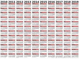 DECADE Calendar